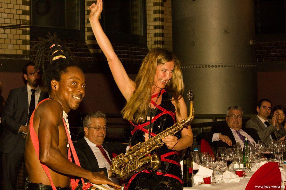 Saxophon und Drums