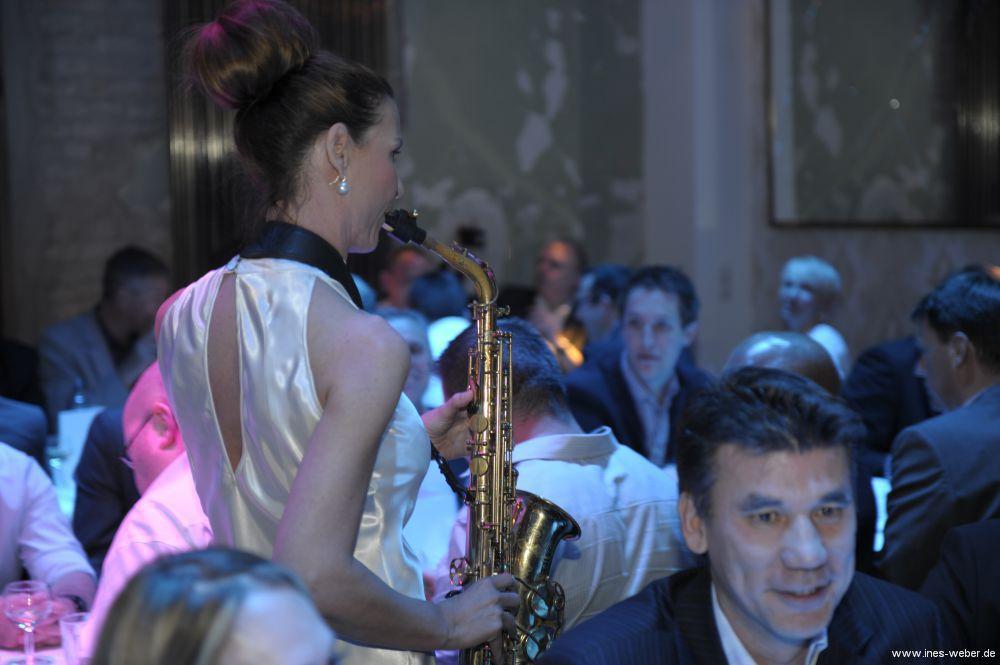 Saxophonistin Ines Weber