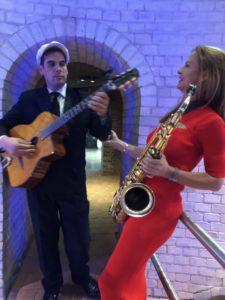 Jazzduo mit Saxophonistin Ines Weber